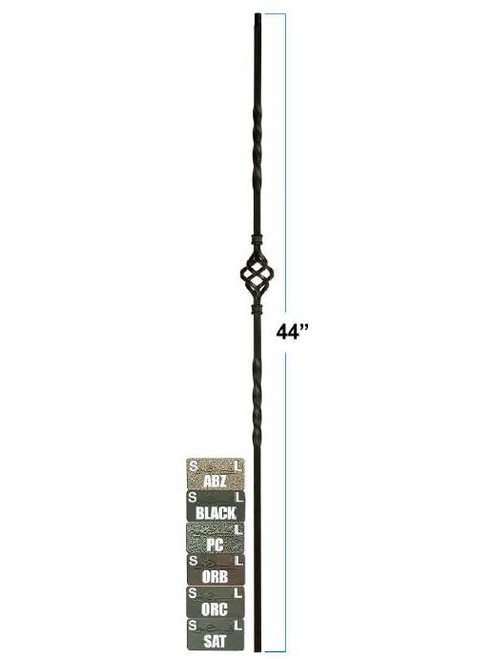 2552-LT Single Basket Tubular Steel Baluster