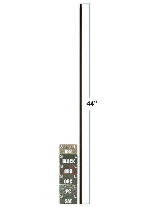 2555 Straight Bar Solid Wrought Iron Baluster, 12mm