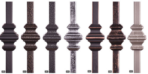 Available Powder Coatings.  Ash Gray is only available with the HF16.1.35-T Tubular Baluster.