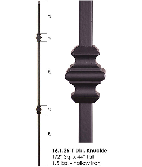 HF16.1.35-T Double Knuckle Tubular Steel Baluster