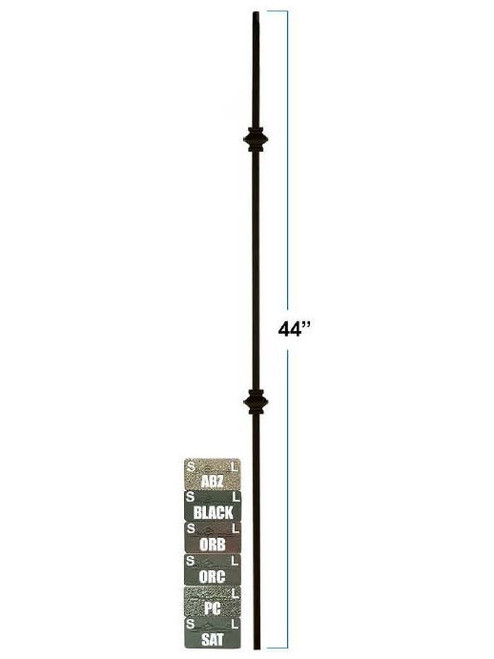 2557-LT Lite Tubular Steel Double Knuckle Baluster, 12mm