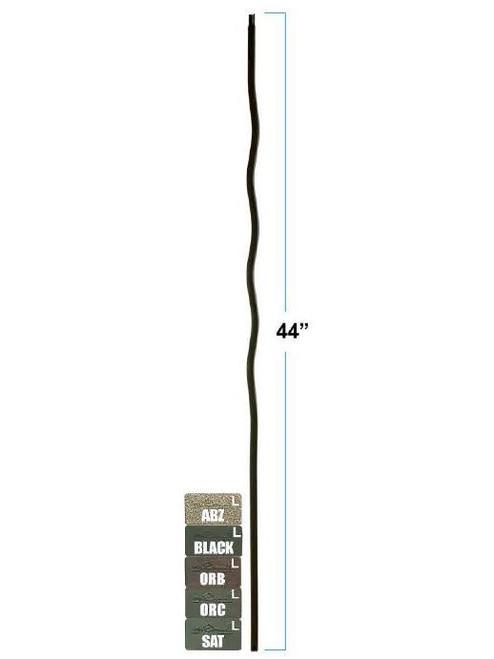 2968-LT Lite Wave Versatile Baluster, Tubular Steel, 12mm