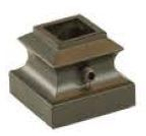 "2915-LT Lite Flat Shoe for 9-1/6"" Square Balusters, Aluminum"