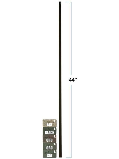 2855 MEGA Plain Square Bar Tubular Steel Baluster, 3/4-Inch (19mm)