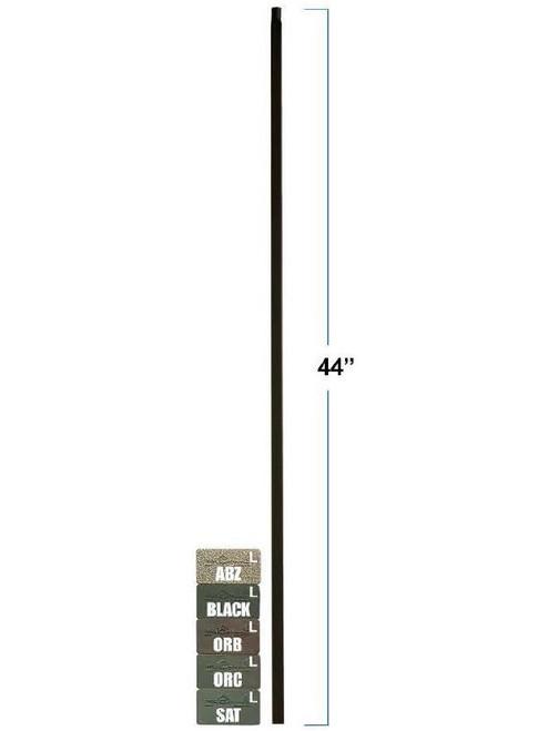 2855 MEGA Plain Square Bar Tubular Steel Baluster, 3/4-Inch (19mm)
