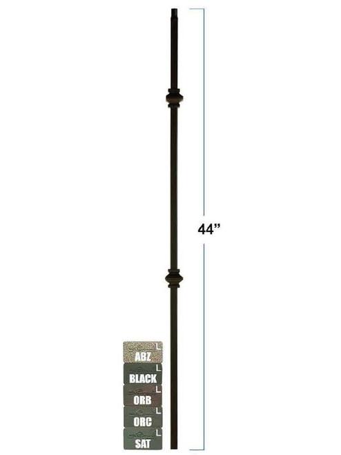 2857 Mega Double Knuckle Tubular Steel Baluster, 3/4-Inch, 19mm