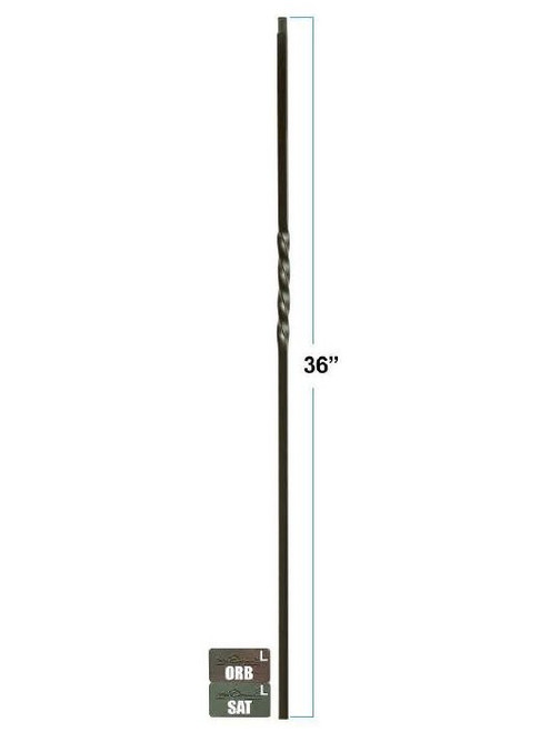 2650 Single Twist 36-inch knee wall baluster, 12mm