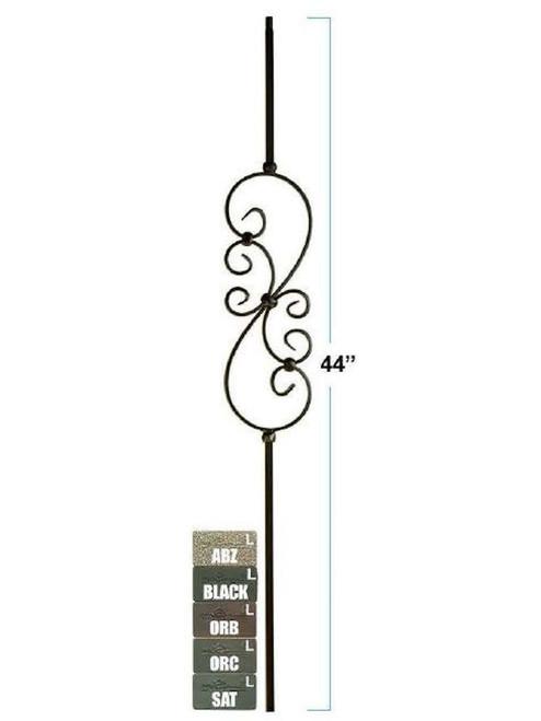 2575-LT Lite Small Scroll in tubular steel, 5-1/2-inch wide, 12mm
