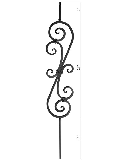PC22/1 Feathered S-Scroll, 26-inch
