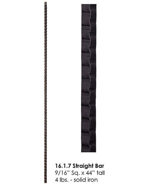 HF16.1.7 Hammered Straight Bar Iron Baluster