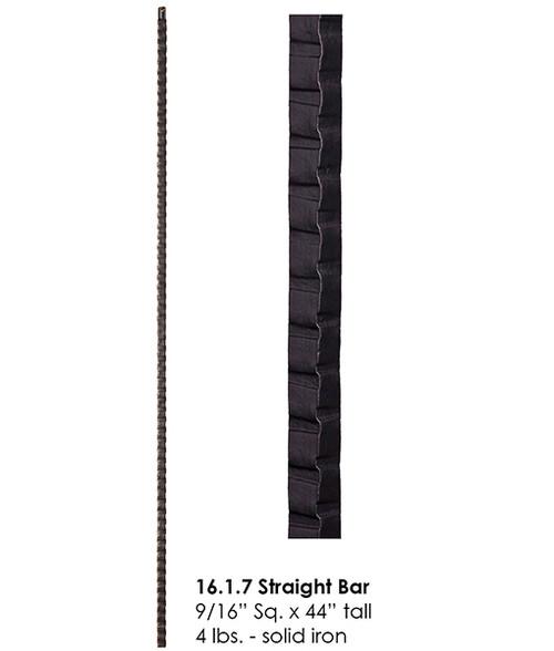 HF16.1.7 Hammered Straight Bar Iron Baluster