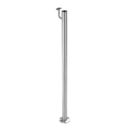 "E0041 Stainless Steel 1 2/3"" Newel Post, Floor Mount"
