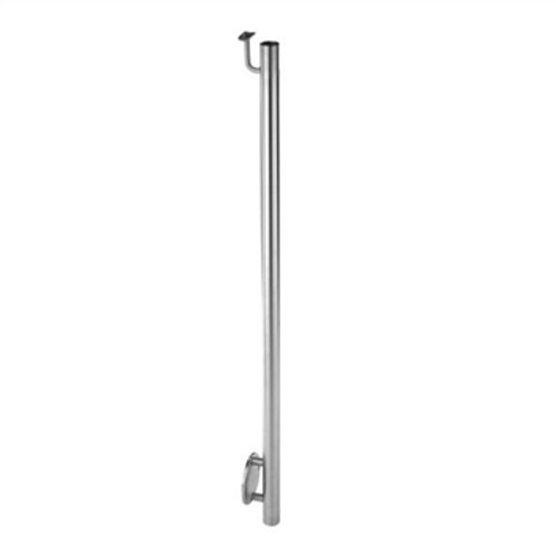 """E0045 Stainless Steel 1 2/3"""" Newel Post Wall Mount, Pivotable"""
