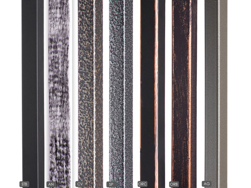 Straight Bar Available Powder Coatings
