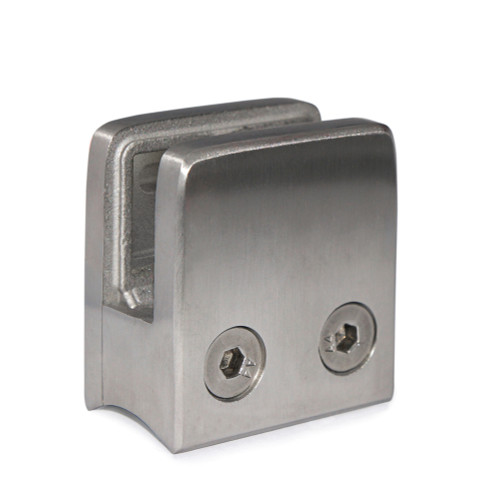 """E11104200 Stainless Steel Glass Clamp 1 3/4"""" x 1 3/4"""" x 1 3/32"""" for 1 2/3"""" Tube"""