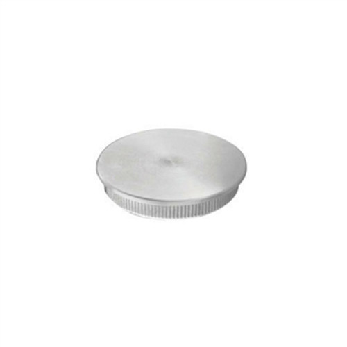 "E0115 Stainless Steel End Cap Flat for Tube 1 1/3"" Diameter"