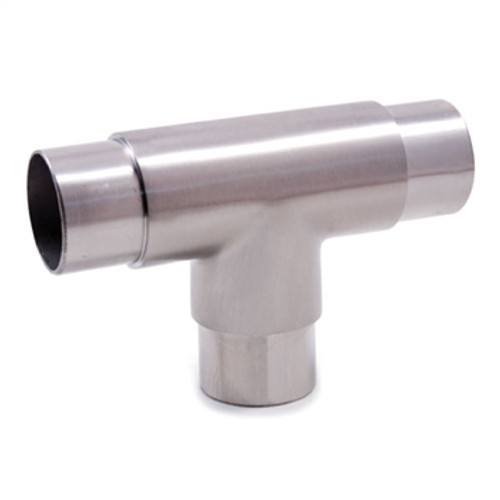 "E453 Stainless Steel 3-Way Flush Fiit ""T"", 1 2/3"" Tube"