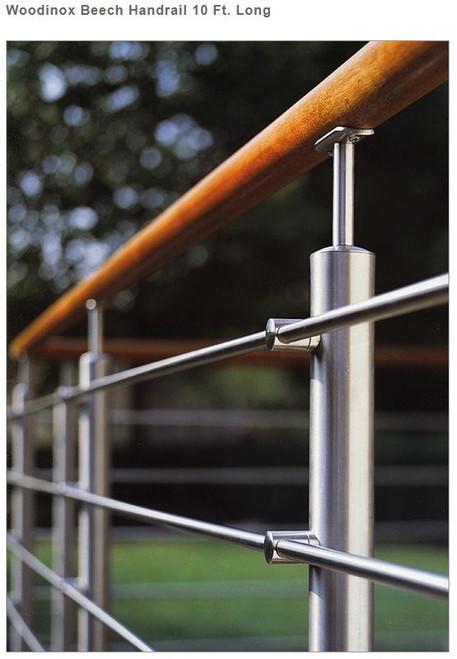 E690/3000/G Woodinox Raw Handrail 10 Ft. Long
