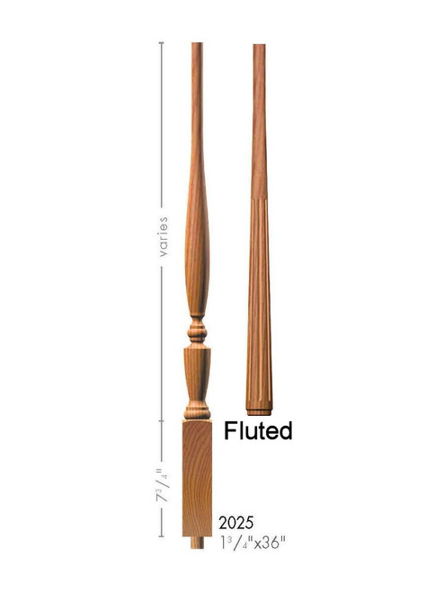 "F-2025 36"" Fluted Georgia Baluster"
