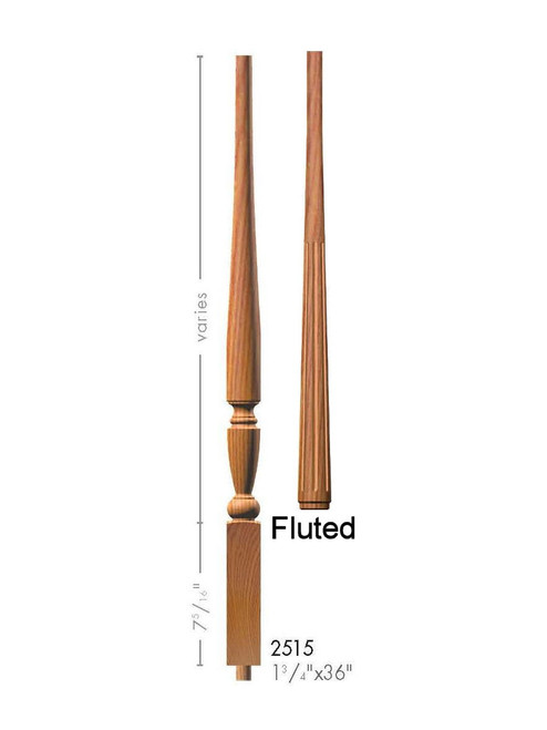 "F-2515 36"" Fluted Georgia Baluster"