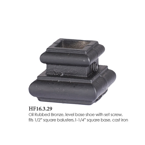 "HF16.3.29 1/2"" Flat Solid Iron Shoe"
