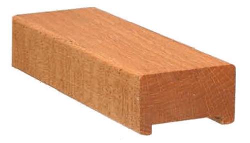 "6001 Red Oak Plowed 1-3/4"" Contemporary Handrail"