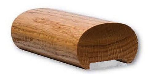 5600P Plowed Pine Oval Handrail
