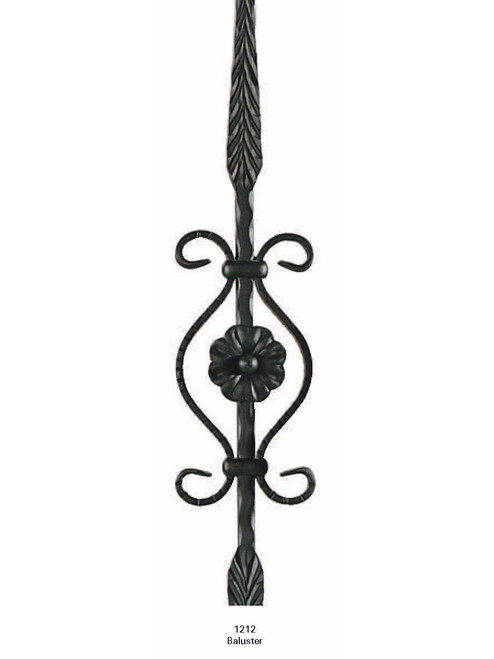 1212 Feathered with Scroll Iron Baluster 2