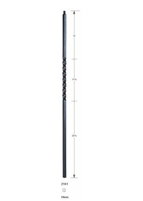 2101 19mm Single Twist Large Hollow Baluster