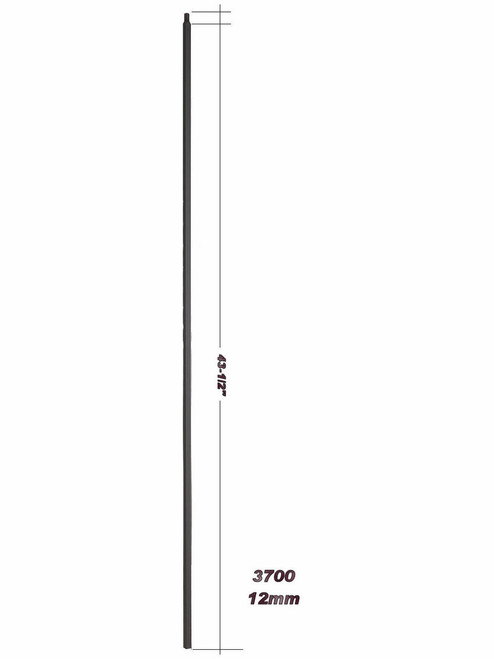 "3700-44 44"" Plain Hollow Bar Baluster"