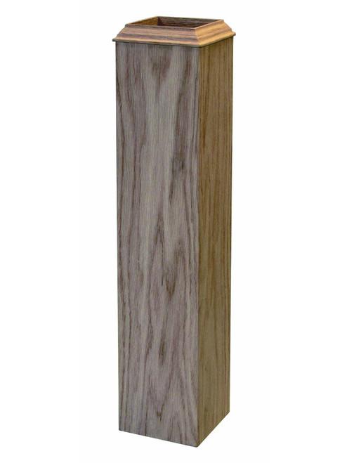 4076B Red Oak Newel Sleeve for the 4076 box newel post