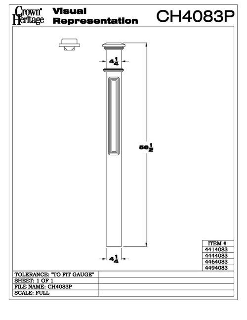 4083 Paneled Box Newel Post