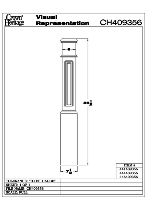 4093P Paneled Box Newel Cadd