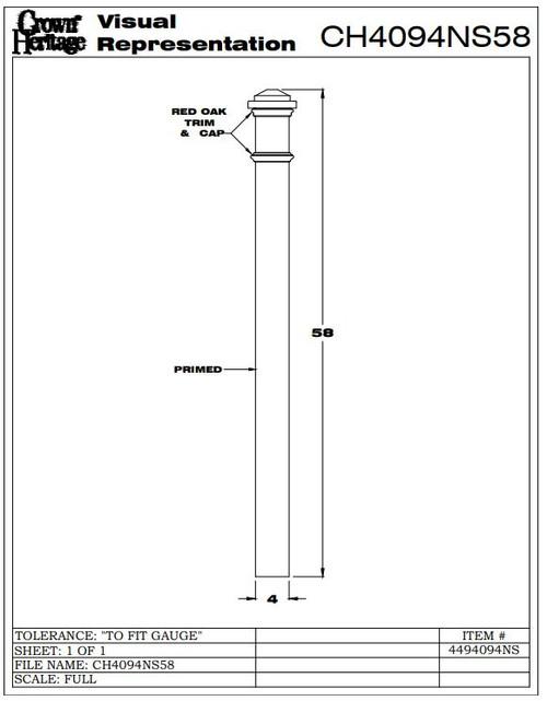 4094-NSF CADD Drawing, Box Newel