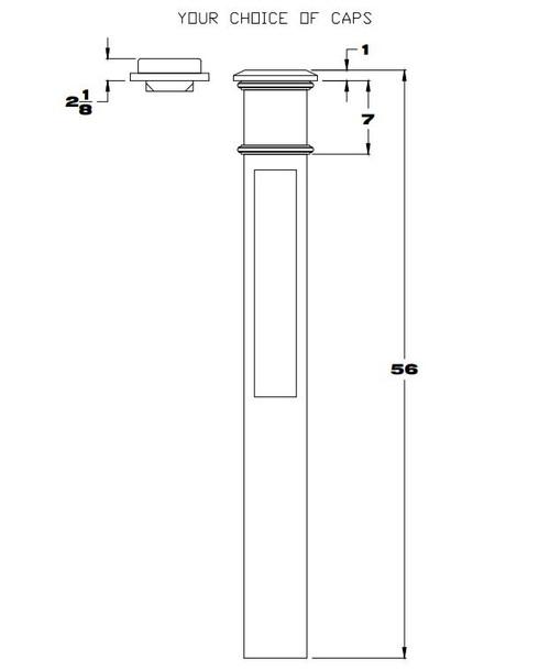 4098 Paneled Box Newel Post, CADD