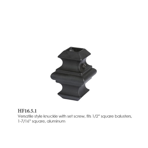 """HF16.5.1 Adjustable Knuckle with Set Screw, Square 1/2"""""""