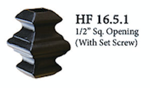 HF16.5.1 Adj. Knuckle with Set Screw, Square 1/2""