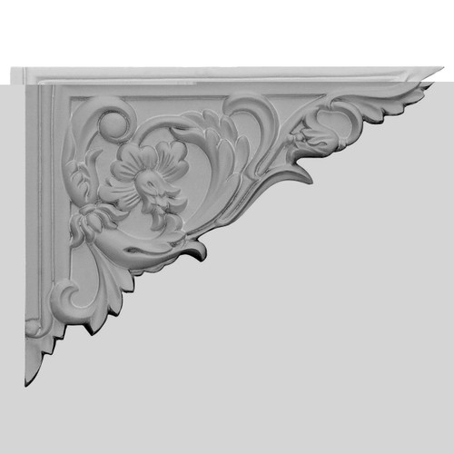 SB08X06FL-R Right Hand Flower Stair Bracket