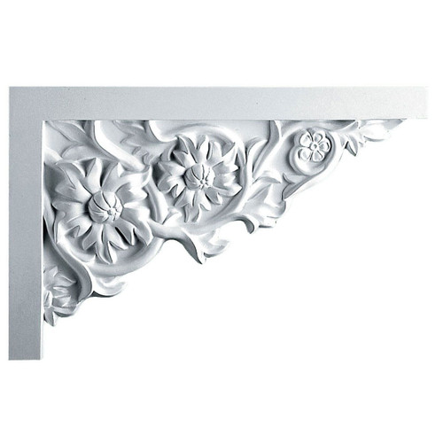 SB11X07FL-R Right Hand Large Floral Stair Bracket