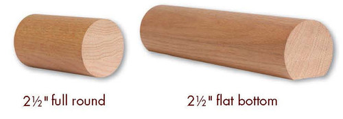 "2500 Soft Maple or Ash 2-1/2"" Round Handrail"