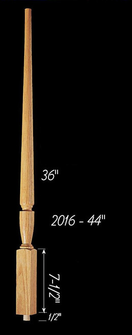 "C-2016 44"" Plain Carolina Baluster"