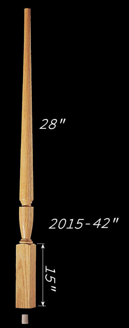 "C-2015 42"" Plain Carolina Baluster"