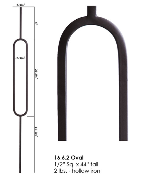 HF16.6.2 Oval Tubular Steel Baluster