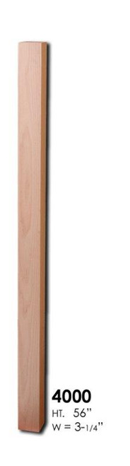 HF4000 S4S Red Oak Newel Post