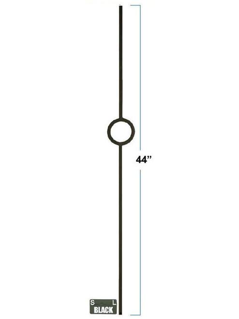 2930 Lite Single Ring Designer Baluster, Solid or Tubular Steel, 12mm