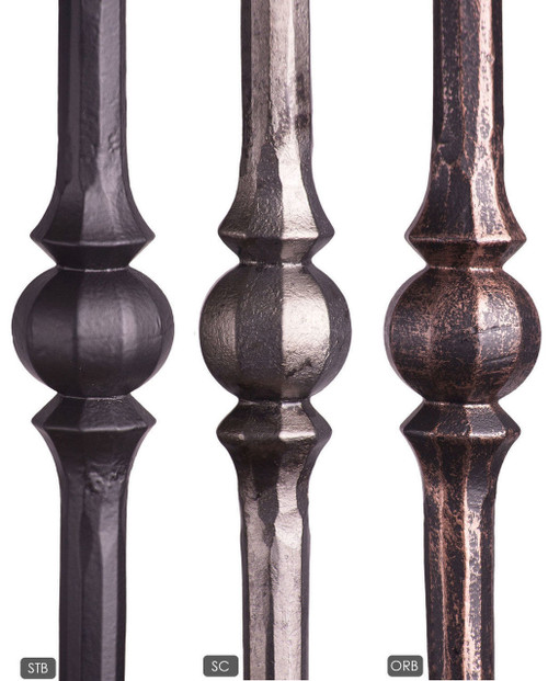 Available Powder Coatings:  Satin Black, Oil Rubbed Bronze, and Satin Clear