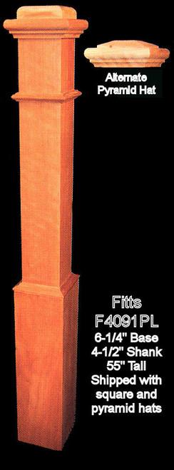 """F4091-PL Plain 55"""" Box Newel Post"""