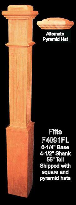 """F4091-F Fluted 55"""" Box Newel Post"""