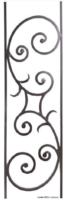 Seville Iron Baluster Panel