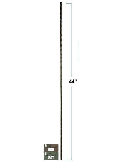 2775 Victorian Plain Round Forged Wrought Iron Baluster, 1/2-inch, 12mm